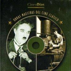 Cine: OBRAS MAESTRAS DEL CINE CLÁSICO: LA QUIMERA DE ORO - EL MAQUINISTA DE LA GENERAL (CINCODÍAS) DVD 2X1. Lote 112211711