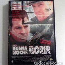 Cine: UNA BUENA NOCHE PARA MORIR - DVD PELÍCULA SUSPENSE ACCIÓN - JAMES RUSSO - GARY STRETCH. Lote 112476471