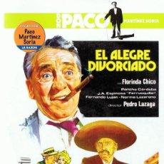 Cine: DVD EL ALEGRE DIVORCIADO PACO MARTINEZ SORIA . Lote 112700619