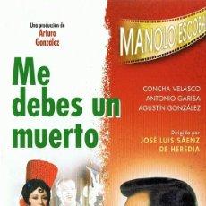 Cine: DVD ME DEBES UN MUERTO MANOLO ESCOBAR . Lote 112707203