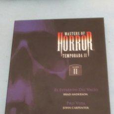 Cine: DVD. MASTERS OF HORROR. BRAD ANDERSON, DARIO ARGENTO, JOHN CARPENTER. VER TÍTULOS EN LA FOTO.. Lote 112709700
