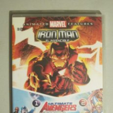 Cine: DVD IRON MAN + ULTIMATE AVENGERS 1 Y 2. Lote 113036683