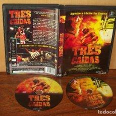 Cine: TRES CAIDAS -DOCUMENTAL LUCHA LIBRE MEXICANA -DE NACHO CABANA Y NOTRO FILMS - DVD DOBLE. Lote 113188991