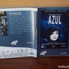Cine: TRES COLORES AZUL- JULIETTE BINOCHE TRILOGIA DE KRZYSZTOF KIESLOWSKI - DVD CAJA FINA PERIODIC. Lote 113189931