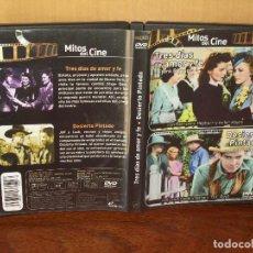 Cine: TRES DIAS DE AMOR Y FE + DESIERTO PINTADO - DOS PELICULAS EN 1 DVD. Lote 113190115