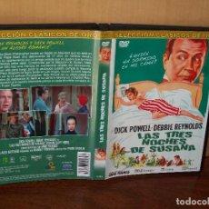 Cine: LAS TRES NOCHES DE SUSANA - DICK POWELL - DEBBIE REYNOLDS - DE FRANK TASHUN - DVD . Lote 113191791