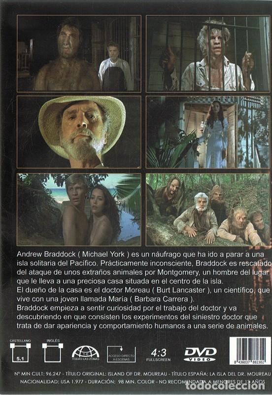 Cine: DVD LA ISLA DEL DR. MOREAU BURT LANCASTER - Foto 2 - 113341755