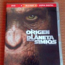 Cine: DVD --- EL ORIGEN DEL PLANETA DE LOS SIMIOS --- BLURAY + DVD (INCLUYE FOLLETO). Lote 113410011