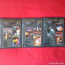 Cine: 3 DVD 3X1 GRANDES CLÁSICOS CINE TERROR I, II, III (9 PELICULAS). Lote 113485059