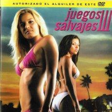 Cine: DVD JUEGOS SALVAJES III. Lote 113502099