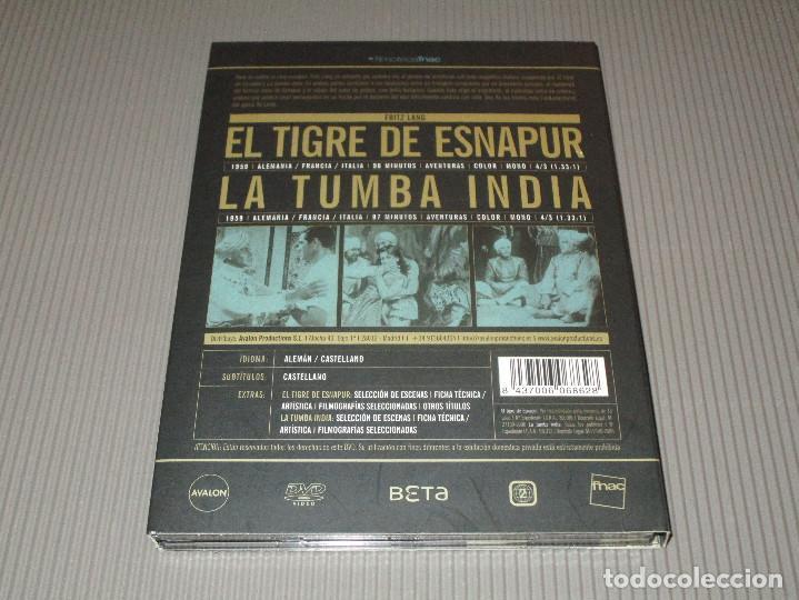 Cine: EL TIGRE DE ESNAPUR / LA TUMBA INDIA - 2 DVD - FRITZ LANG - ALEMAN CON SUBTITULOS AL CASTELLANO - Foto 5 - 114177259