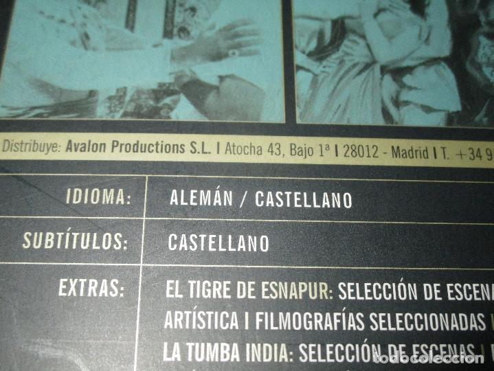 Cine: EL TIGRE DE ESNAPUR / LA TUMBA INDIA - 2 DVD - FRITZ LANG - ALEMAN CON SUBTITULOS AL CASTELLANO - Foto 6 - 114177259