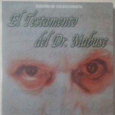 Cine: EL TESTAMENTO DEL DR. MABUSE (1932) - FRITZ LANG - DESCATALOGADO - 2 DVD - EDICION COLECCIONISTA. Lote 114374119
