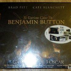 Cine: EL CURIOSO CASO DE BENJAMIN BUTTON COLECCIONISTA PRECINTADO 2 DVD + 6 POSTALES EXCLUSIVAS BRAD PITT. Lote 114732971