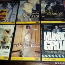 Cine: CINE DE AUTOR BIG TIME LOTE DE 6 DVDS ORIGINALES: LA CHICA DEL PUENTE, BESOS ROBADOS,... VER FOTOS. Lote 115001267