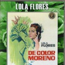 Cine - DE COLOR MORENO DVD (LOLA FLORES - DESCAT.) - .ENREDOS DE UNA PAREJA ARTISTICA EN TIERRAS LEJANAS - 115156763