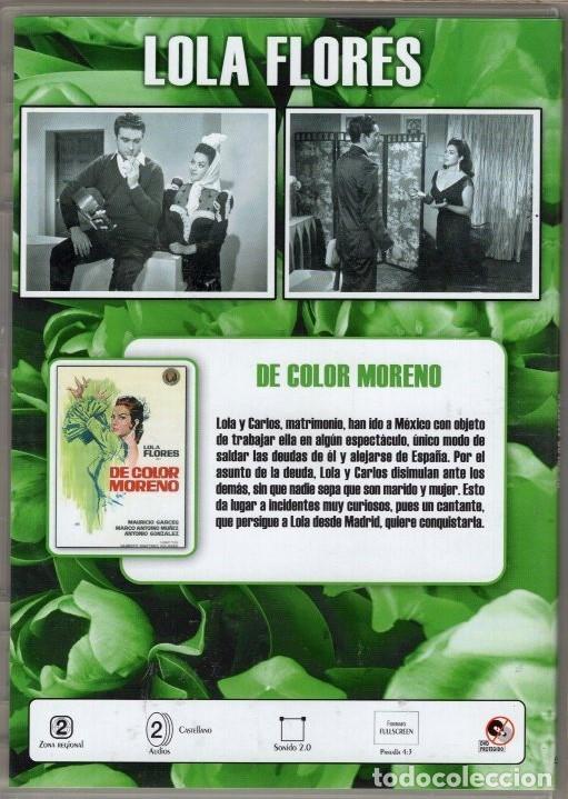 Cine: DE COLOR MORENO DVD (LOLA FLORES - DESCAT.) - .ENREDOS DE UNA PAREJA ARTISTICA EN TIERRAS LEJANAS - Foto 2 - 115156763