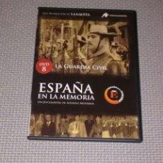 Cine: ESPAÑA EN LA MEMORIA. DVD 8. LA GUARDIA CIVIL.. Lote 115193491