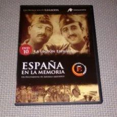 Cine: ESPAÑA EN LA MEMORIA. DVD 10. LA LEGIÓN ESPAÑOLA.. Lote 115200096