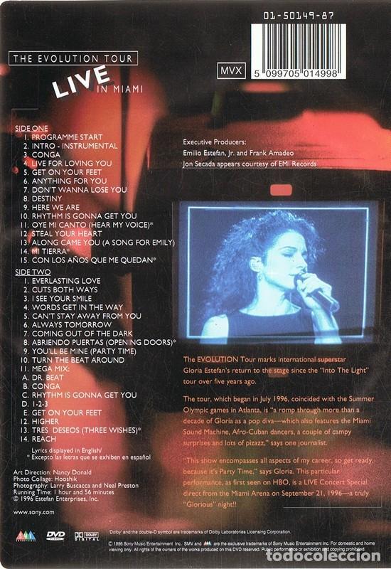 Cine: DVD GLORIA ESTEFAN THE EVOLUTION TOUR LIVE IN MIAMI - Foto 2 - 115713799