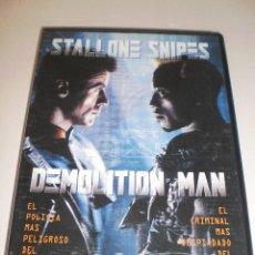 Cine: DVD. DEMOLITION MAN. STALLONE. SNIPES. 110 MINUTOS (PROBADA Y BIEN). Lote 115886667