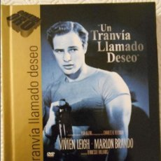Cine: UN TRANVIA LLAMADO DESEO. LIBRO DVD DE LA PELICULA DE ELIA KAZAN. CON MARLON BRANDO Y VIVIAN LEIGH. . Lote 115941559