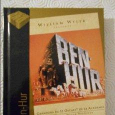 Cine: BEN-HUR. LIBRO DVD DE LA PELICULA DE WILLIAM WYLER. CON CHARLTON HESTON, JACK HAWKINS, STEPHEN BOYD,. Lote 115943799