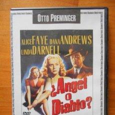 Cine: DVD ¿ANGEL O DIABLO? - ALICE FAYE - DANA ANDREWS - LINDA DARNELL (9H). Lote 116077495