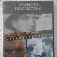 Cine: FRITZ LANG. GRANDES DIRECTORES. DVD CON 2 PELICULAS: EL TESTAMENTO DEL DR. MABUSE / SOLO SE VIVE UNA. Lote 116748195
