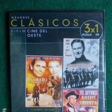 Cine: 3 PELICULAS CLASICOS DEL OESTE. Lote 117800467
