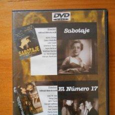 Cine: DVD SABOTAJE / EL NUMERO 17 (AO). Lote 117814775