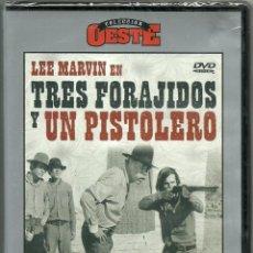 Cine: DVD CINE COLECCION OESTE - TRES FORAJIDOS Y UN PISTOLERO - PRECINTO ORIGINAL. Lote 118097875