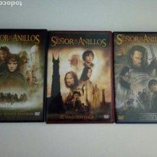 Cine: DVDS TRILOGÍA EL SEÑOR DE LOS ANILLOS. NO ES VERSIÓN ESTENDIDA.. Lote 118425572
