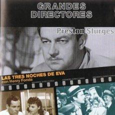 Cine: LAS TRES NOCHES DE EVA & LOS VIAJES DE SULLIVAN. Lote 118433463