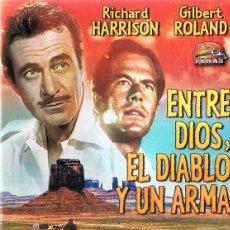 Cine: ENTRE DIOS,EL DIABLO Y UN ARMA RICHARD HARRISON (DVD). Lote 118434275