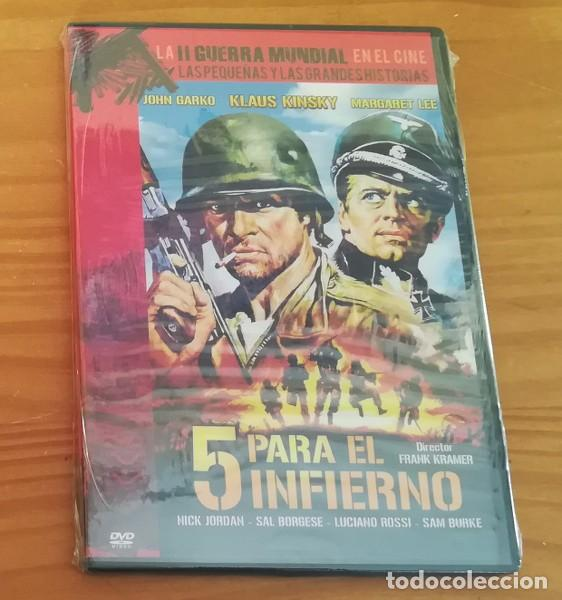 5 PARA EL INFIERNO, FRANK KRAMER, KLAUS KINSKY... DVD LA II GUERRA MUNDIAL EN EL CINE. (Cine - Películas - DVD)
