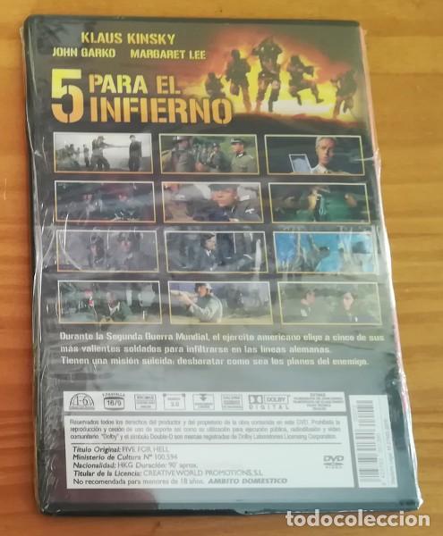 Cine: 5 PARA EL INFIERNO, FRANK KRAMER, KLAUS KINSKY... DVD LA II GUERRA MUNDIAL EN EL CINE. - Foto 2 - 118609699