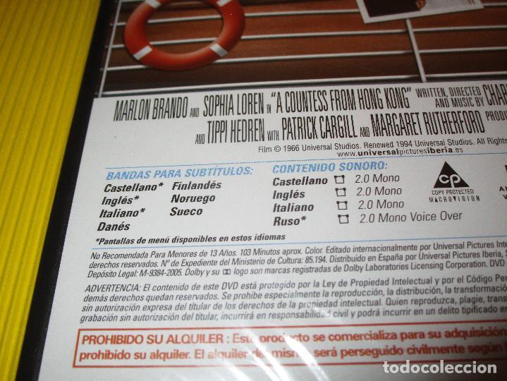 Cine: LA CONDESA DE HONG KONG - DVD - EDICION 823 438 8 - UNIVERSAL - PRECINTADO - MARLON BRANDO ... - Foto 3 - 118708487