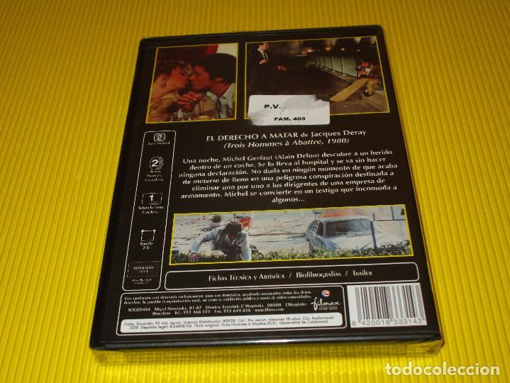 Cine: EL DERECHO A MATAR - DVD - FILMAX HOME VIDEO - PRECINTADA - COLECCION ALAIN DELON - FILM NOIR - Foto 2 - 118923051