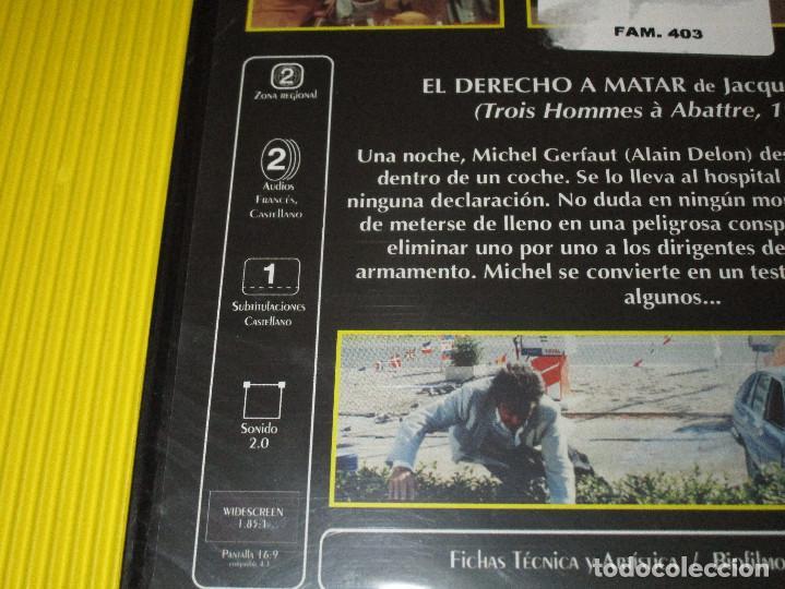 Cine: EL DERECHO A MATAR - DVD - FILMAX HOME VIDEO - PRECINTADA - COLECCION ALAIN DELON - FILM NOIR - Foto 3 - 118923051