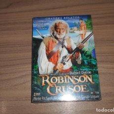 Cine: ROBINSON CRUSOE EDICION ESPECIAL 2 DVD 192 MIN. PIERRE RICHARD NUEVA PRECINTADA. Lote 187308692