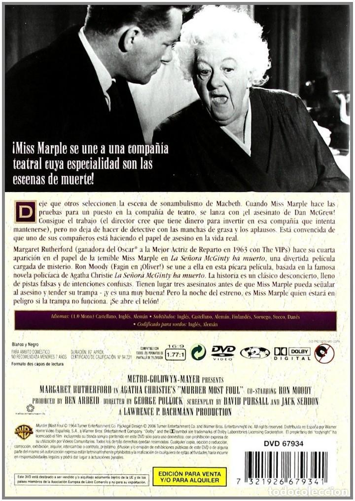 Cine: La Señora Mcginty Ha Muerto ** CON Margaret Rutherford ** COLECCION AGATHA CHRISTIE ** multi idiomas - Foto 2 - 119113747