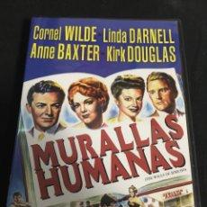 Cinema: MURALLAS HUMANAS ( DVD SEGUNDA MANO ). Lote 119122452