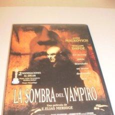 Cine: DVD. LA SOMBRA DEL VAMPIRO. JOHN MALKOVICH. 92 MINUTOS (EN ESTADO NORMAL). Lote 119306035