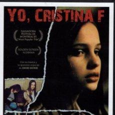 Cine: YO CRISTINA F.: (MUSICA DE DAVID BOWIE)- LOS ESCARCEOS EN LA DROGA LLEVAN ...A UN MAL FINAL. Lote 119472519