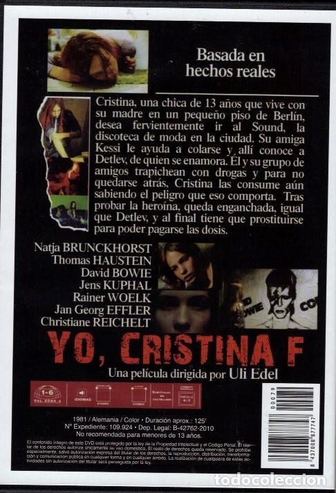 Cine: YO CRISTINA F.: (MUSICA DE DAVID BOWIE)- LOS ESCARCEOS EN LA DROGA LLEVAN ...A UN MAL FINAL - Foto 2 - 119472519