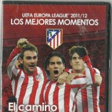 Cine: DVD FUTBOL - ATLETICO DE MADRID - UEFA EUROPE LEAGUE 2011/12 - LOS MEJORES MOMENTOS - PRECINTADO. Lote 120113595