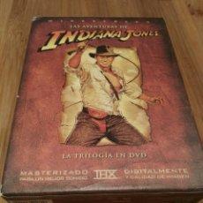 Cine: LAS AVENTURAS DE INDIANA JONES - TRILOGÍA EN DVD - WIDESCREEN. Lote 120462946