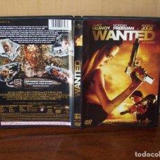 Cine: WANTED - JAMES MCAVOY - MORGAN FREEMAN - ANGELINA JOLIE - DVD. Lote 198395130