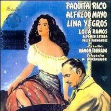 Cinema: DEBLA LA VIRGEN GITANA - PAQUITA RICO, ALFREDO MAYO, LINA YEGROS DVD NUEVO. Lote 219771807